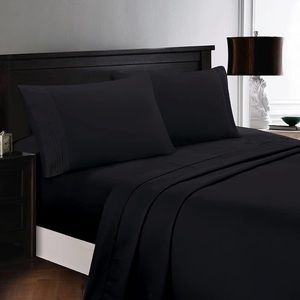 ⭐️SALE⭐️Queen 6pc Black Bedsheets
